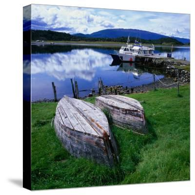 Upturned Rowing Boats Near Pier at Beagle Channel, Estancia Harberon, Argentina