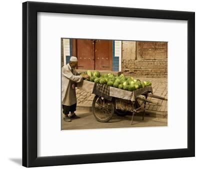 Vendor with Watermelon Cart