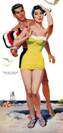 """The Trouble With Love - Saturday Evening Post """"Leading Ladies"""", June 4, 1955 pg.31 by Wesley Snyder"""