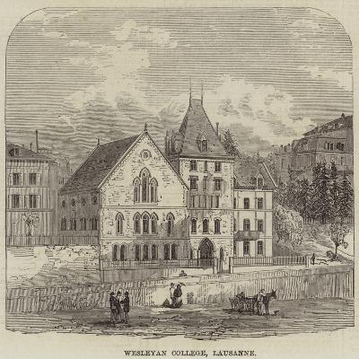 Wesleyan College, Lausanne--Giclee Print