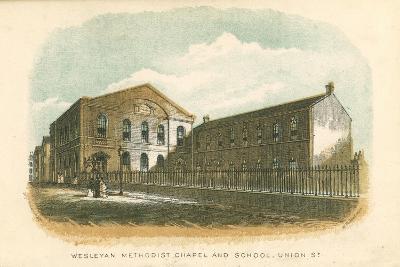 Wesleyan Methodist Chapel and School, Union Street, Rochdale, Manchester, 1876--Giclee Print