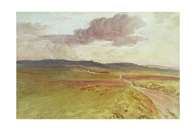 Wessex, Nr Maiden Castle-Walter Tyndale-Giclee Print