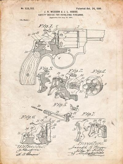 Wesson Pistol Patent-Cole Borders-Art Print