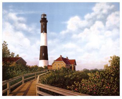 West Channel Lighthouse-Daniel Pollera-Art Print