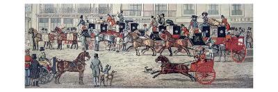 West Country Mail Carriages in Piccadilly--Giclee Print