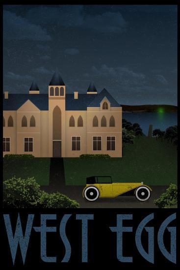 West Egg Retro Travel Poster--Poster