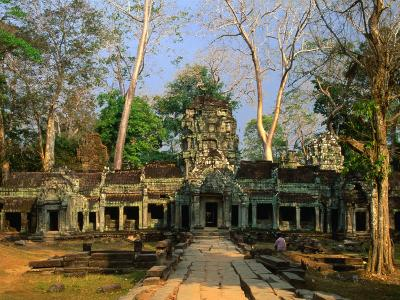 West Entrance of Ta Prohm Temple, Angkor, Siem Reap, Cambodia-Anders Blomqvist-Photographic Print