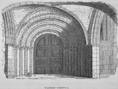 West Entrance of Temple Church, City of London, 1835-Samuel Williams-Giclee Print