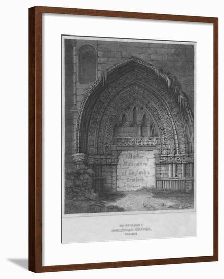 'West Entrance to Holyrood Chapel, Edinburgh', 1814-John Greig-Framed Giclee Print