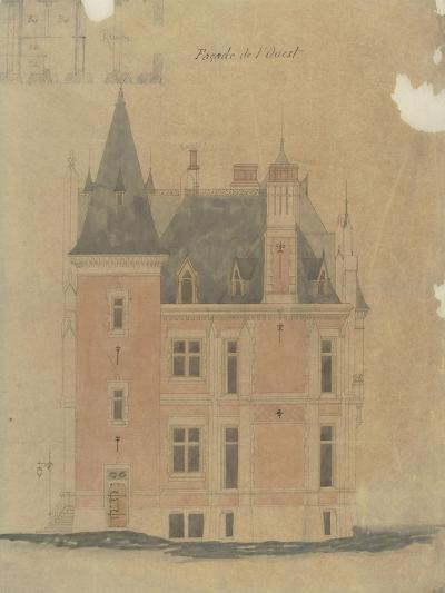 West Facade of a Hotel Neo-Renaissance Corner Turret-Antoine Zoegger-Giclee Print
