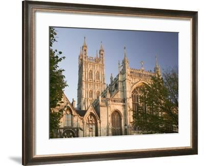 West Facade of Gloucester Cathedral at Dusk-Chris Warren-Framed Photographic Print