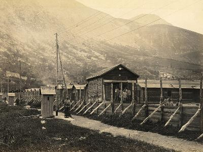 West Fence of the Fonte D'Amore Camp in Sulmona, Province of L'Aquila--Photographic Print