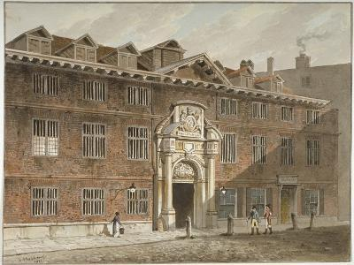 West Front of Blackwell Hall, King Street, City of London, 1811-George Shepherd-Giclee Print