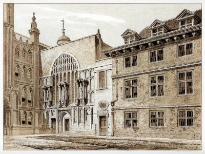 West Front of Guildhall Chapel, City of London, 1886-William Griggs-Giclee Print