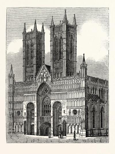 West Front of Lincoln Cathedral--Giclee Print
