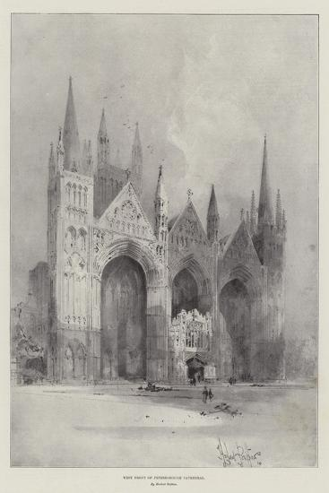 West Front of Peterborough Cathedral-Herbert Railton-Giclee Print