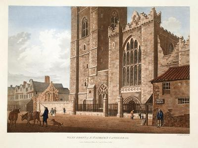 West Front of St. Patrick's Cathedral, Dublin, 1793-James Malton-Giclee Print