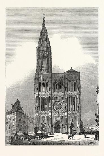 West Front of Strasburg Cathedral--Giclee Print