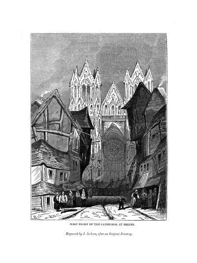 West Front of the Cathedral at Rheims, 1843-J Jackson-Giclee Print