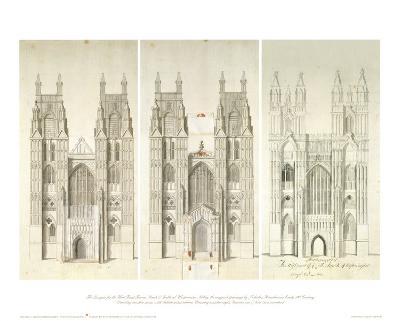 West Front Tower-Nicholas Hawksmoor-Art Print