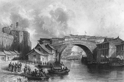West Gate of Ching-Keang-Foo (Zhenjian), China, 21 July 1842-MJ Starling-Giclee Print