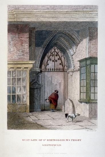 West Gate of the Old Priory of St Bartholomew-The-Great, Smithfield, City of London, 1851-John Wykeham Archer-Giclee Print