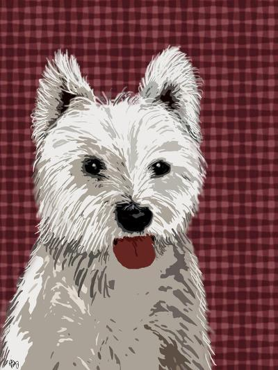 West Highland Terrier Plain-Fab Funky-Art Print