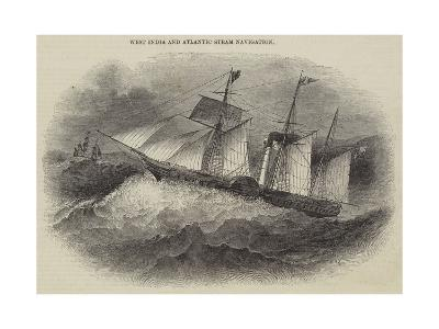 West India and Atlantic Steam Navigation--Giclee Print