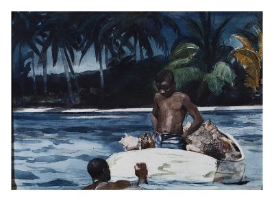 West Indian Divers-Winslow Homer-Giclee Print