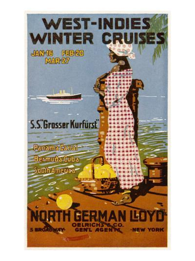 West Indies Poster--Giclee Print