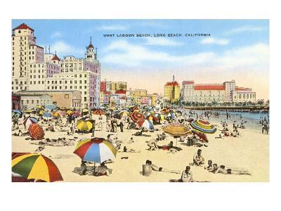 West Lagoon Beach, Long Beach, California--Art Print
