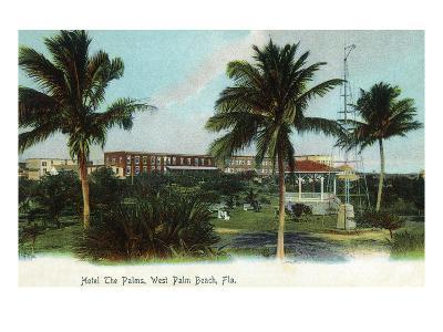 West Palm Beach, Florida - The Palms Hotel Exterior View-Lantern Press-Art Print