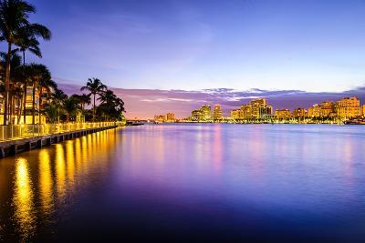 West Palm Beach Florida, USA Cityscape on the Intracoastal Waterway.-SeanPavonePhoto-Photographic Print