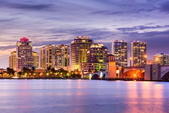 West Palm Beach Florida Usa Downtown Skyline Seanpavonephoto Photographic Print