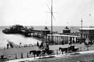 West Pier, Brighton, Sussex, Early 20th Century--Giclee Print