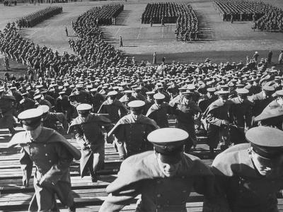 West Point Cadets Swarming into Bleachers for Army-Navy Game at Baltimore Stadium-Alfred Eisenstaedt-Photographic Print