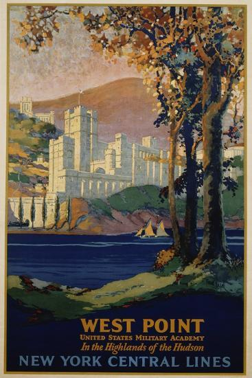 West Point - New York Central Lines Travel Poster-Frank Hazell-Giclee Print