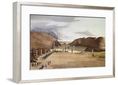 West Point with a View of the Hudson River, 1828-George Caitlin-Framed Giclee Print