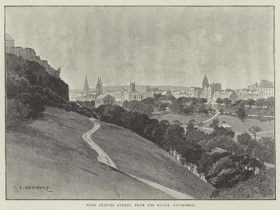 West Princes Street, from the Mound, Edinburgh-Charles Auguste Loye-Giclee Print