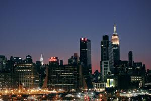 West-side Skyline at Night NYC