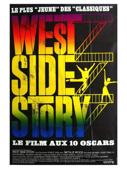 West Side Story, French Movie Poster, 1961--Art Print