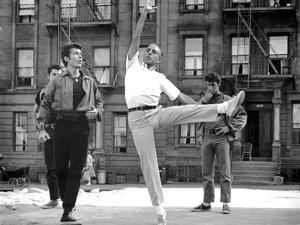 West Side Story, George Chakiris Gets Some Dancing Moves from Co-Director, Jerome Robbins, 1961