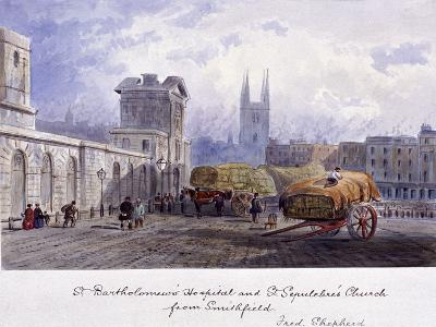 West Smithfield, London, C1840-Percy Bysshe Shelley-Giclee Print