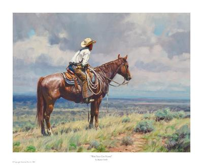 West Texas Cow Hunter-Martin Grelle-Art Print