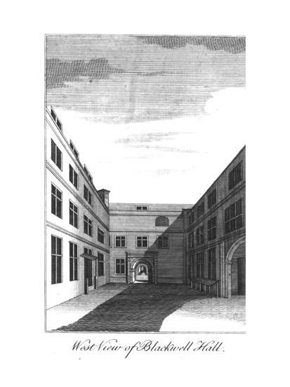 'West View of Blackwell Hall.', c1750-1800-Unknown-Giclee Print