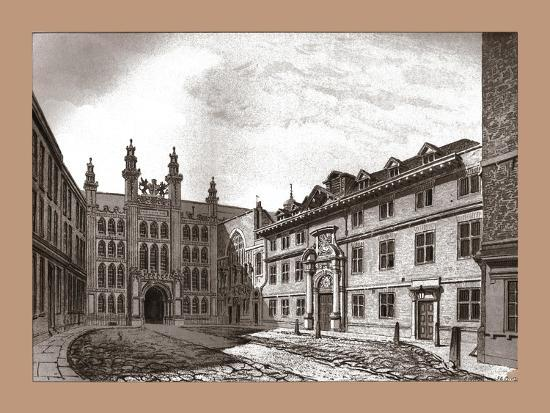 West View of Guildhall Chapel and Blackwell Hall, 1886-Unknown-Giclee Print