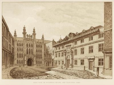 West View of Guildhall Chapel and Blackwell Hall, City of London, 1886--Giclee Print