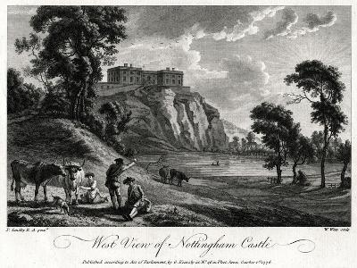West View of Nottingham Castle, Nottinghamshire, 1776-William Watts-Giclee Print