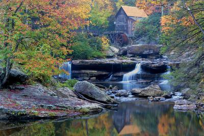 West Virginia Babcock State Park Glade Creek Grist Mill Photographic Print Jaynes Gallery Art Com
