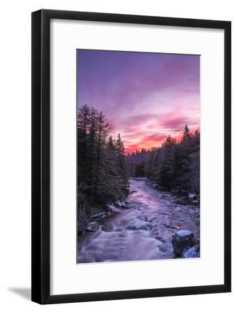 West Virginia, Blackwater Falls State Park. Sunrise on Blackwater River-Jaynes Gallery-Framed Photographic Print